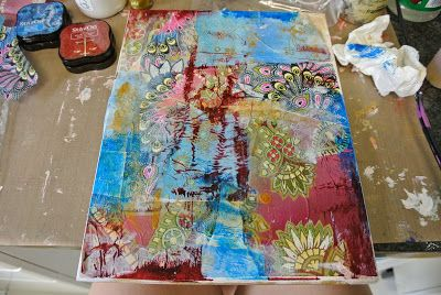 frog dog studio: Collage Painting Made Easy!!!