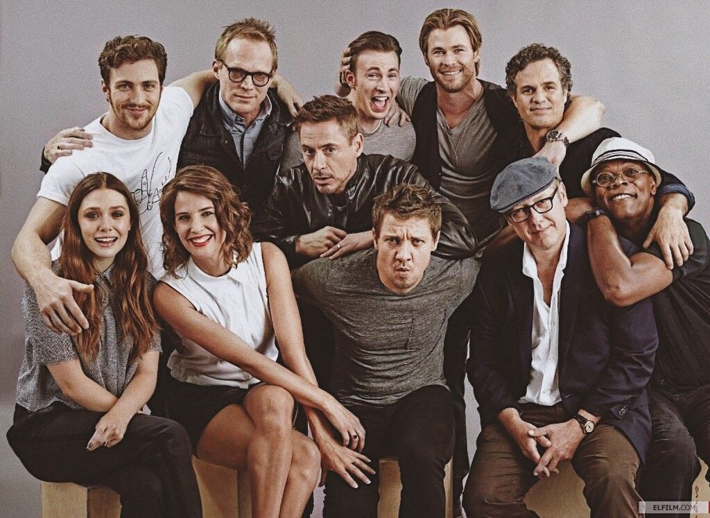 Aou Cast Aaron Taylor Johnson Evans Hemsworth Ruffalo Rdj