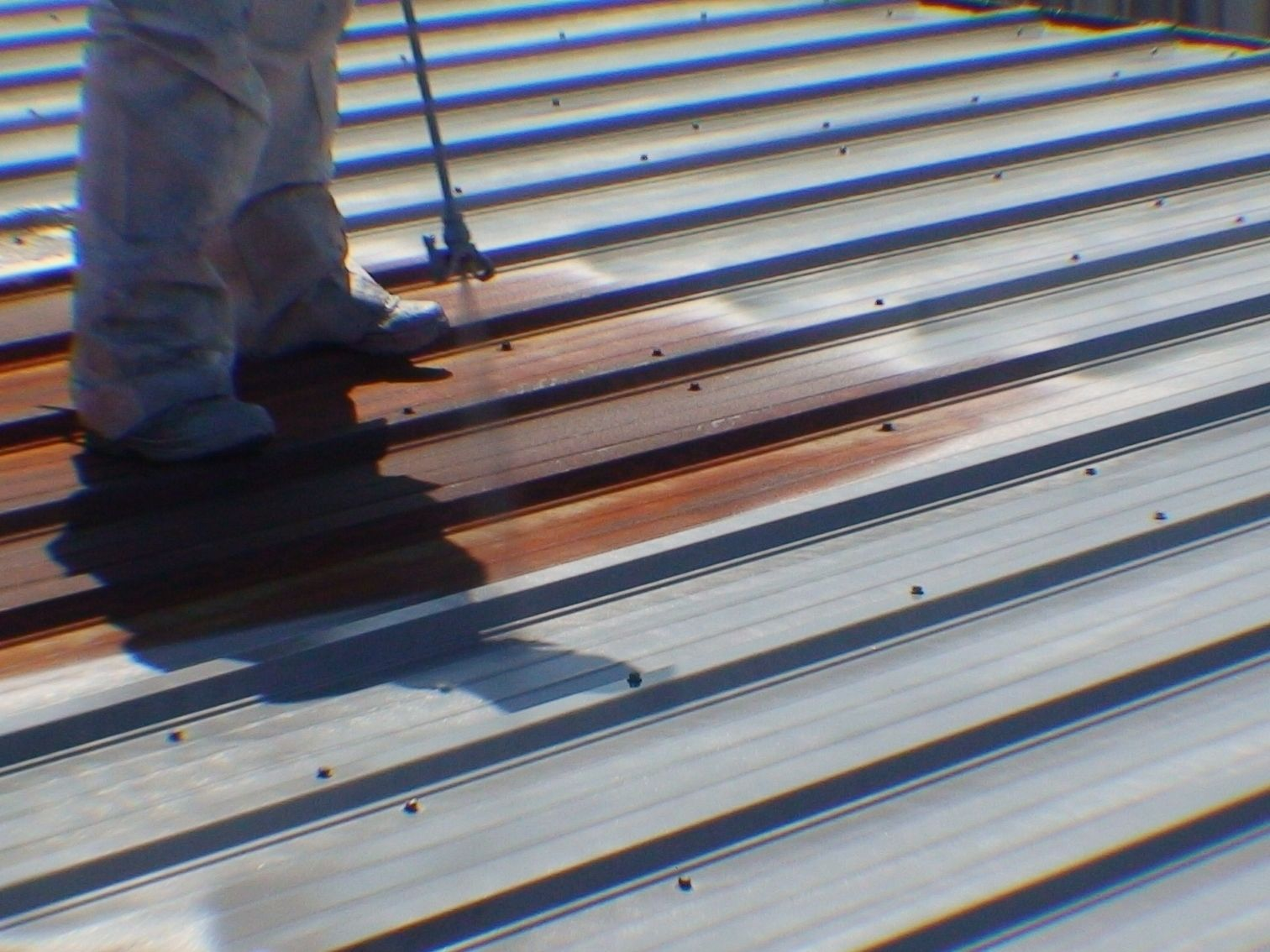 how to rust galvanized metal roofing