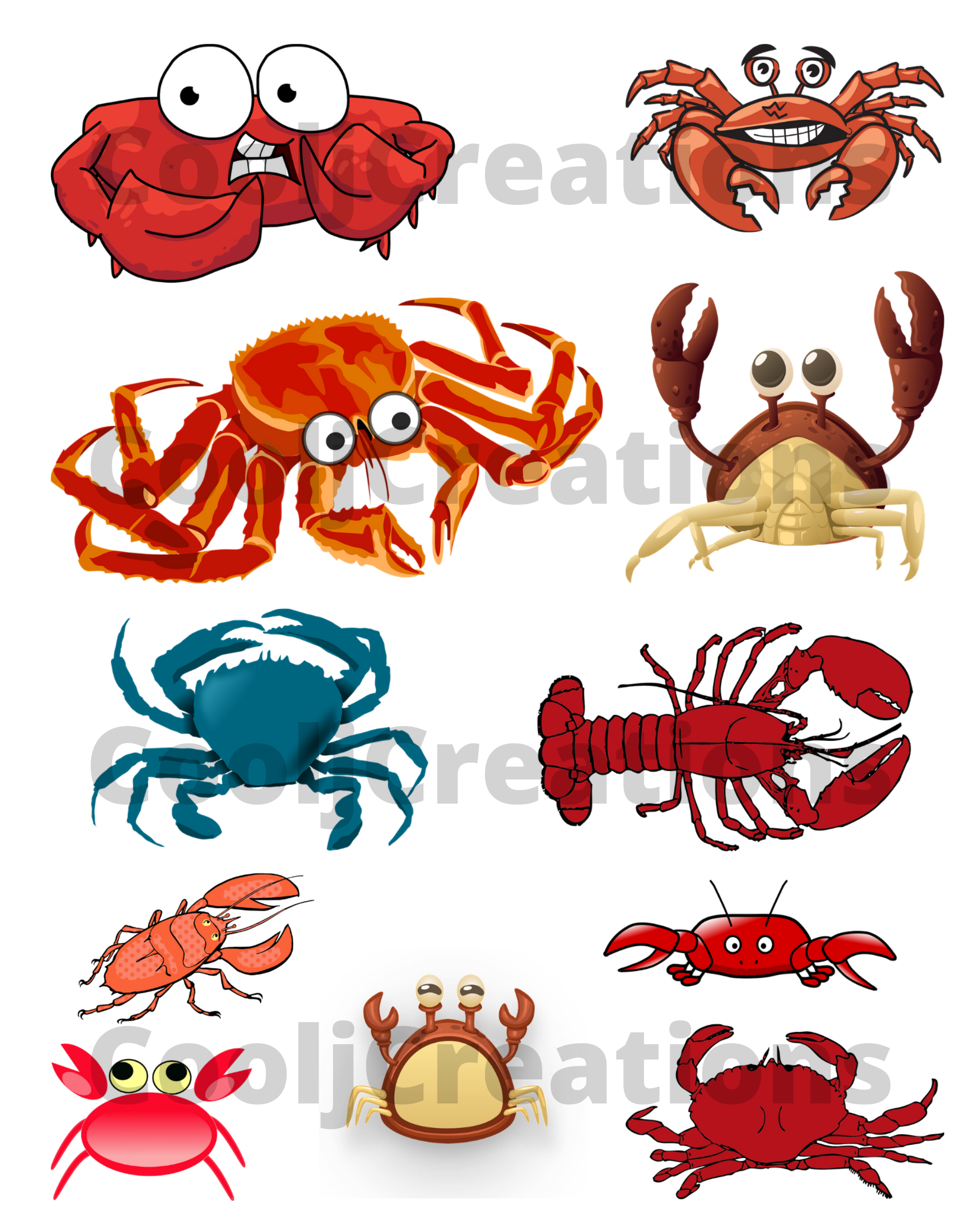 Crab and Lobster Clip Art Images in ...