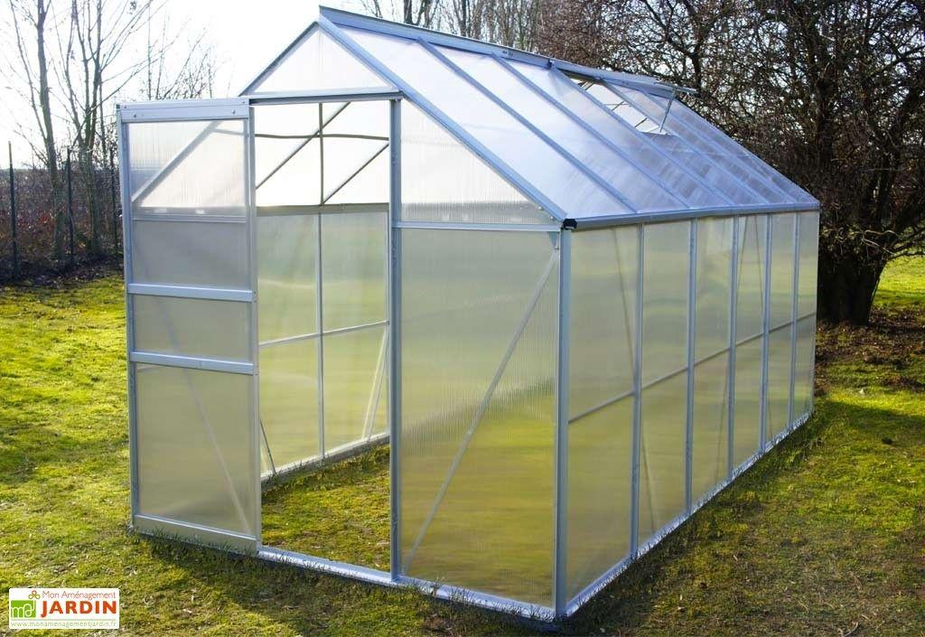 Serre De Jardin En Aluminium Et Polycarbonate Diamant Gris 126 Chalet De Jardin Serre Jardin Jardins