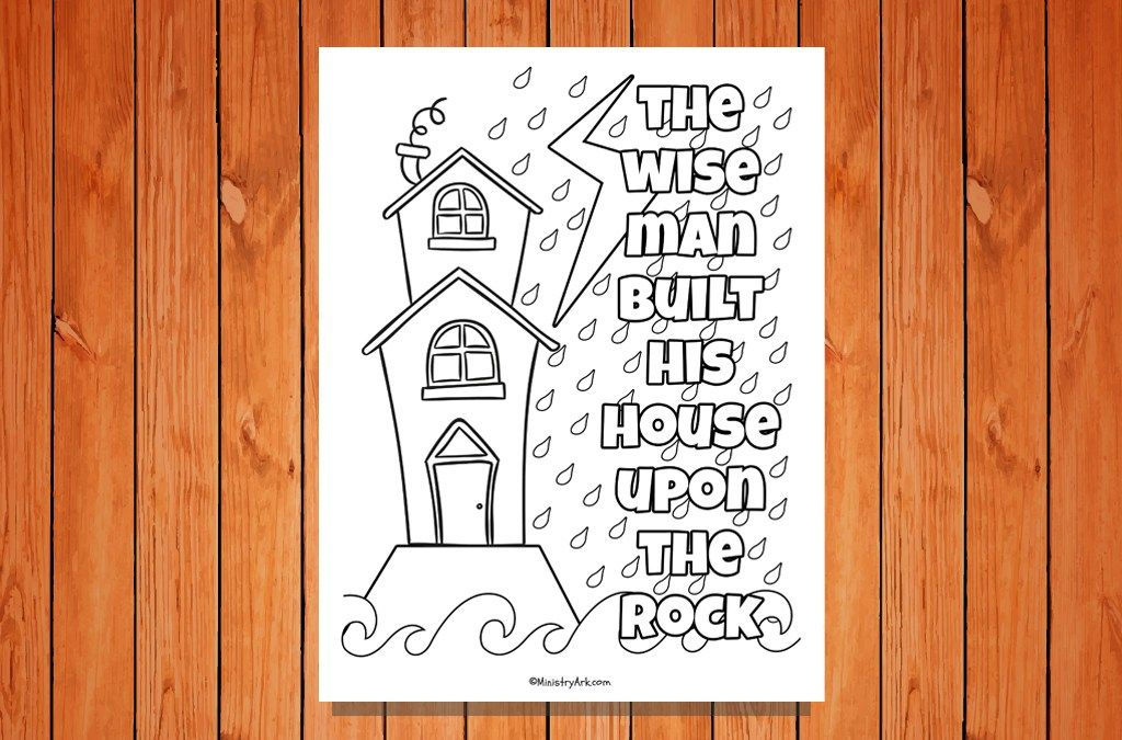 the wise man built printable matthew 7 24 27 matthew 7 24 rh pinterest com