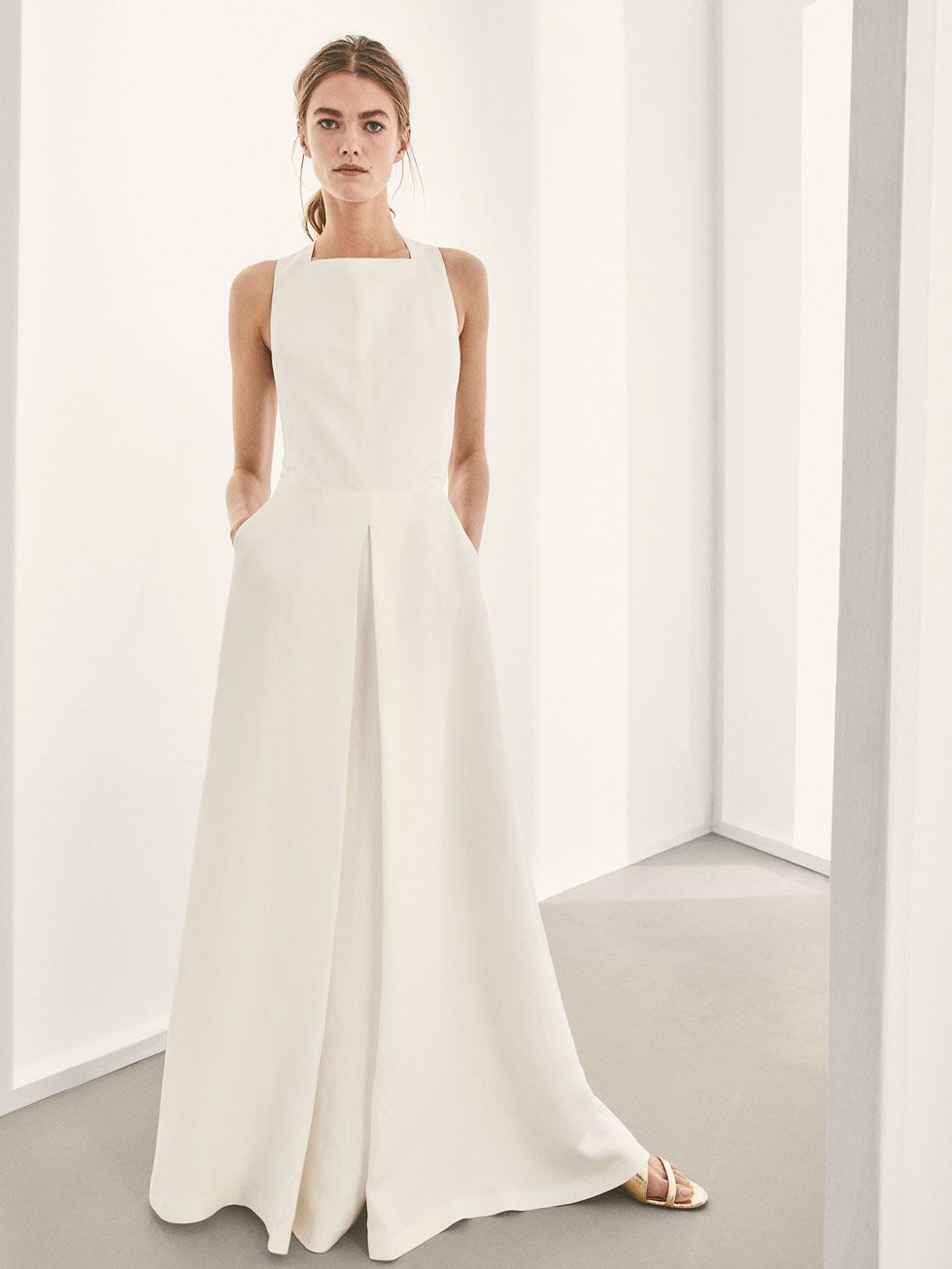 b0e81ad0c0 LINEN DRESS WITH CRISS-CROSS BACK - Women - Massimo Dutti