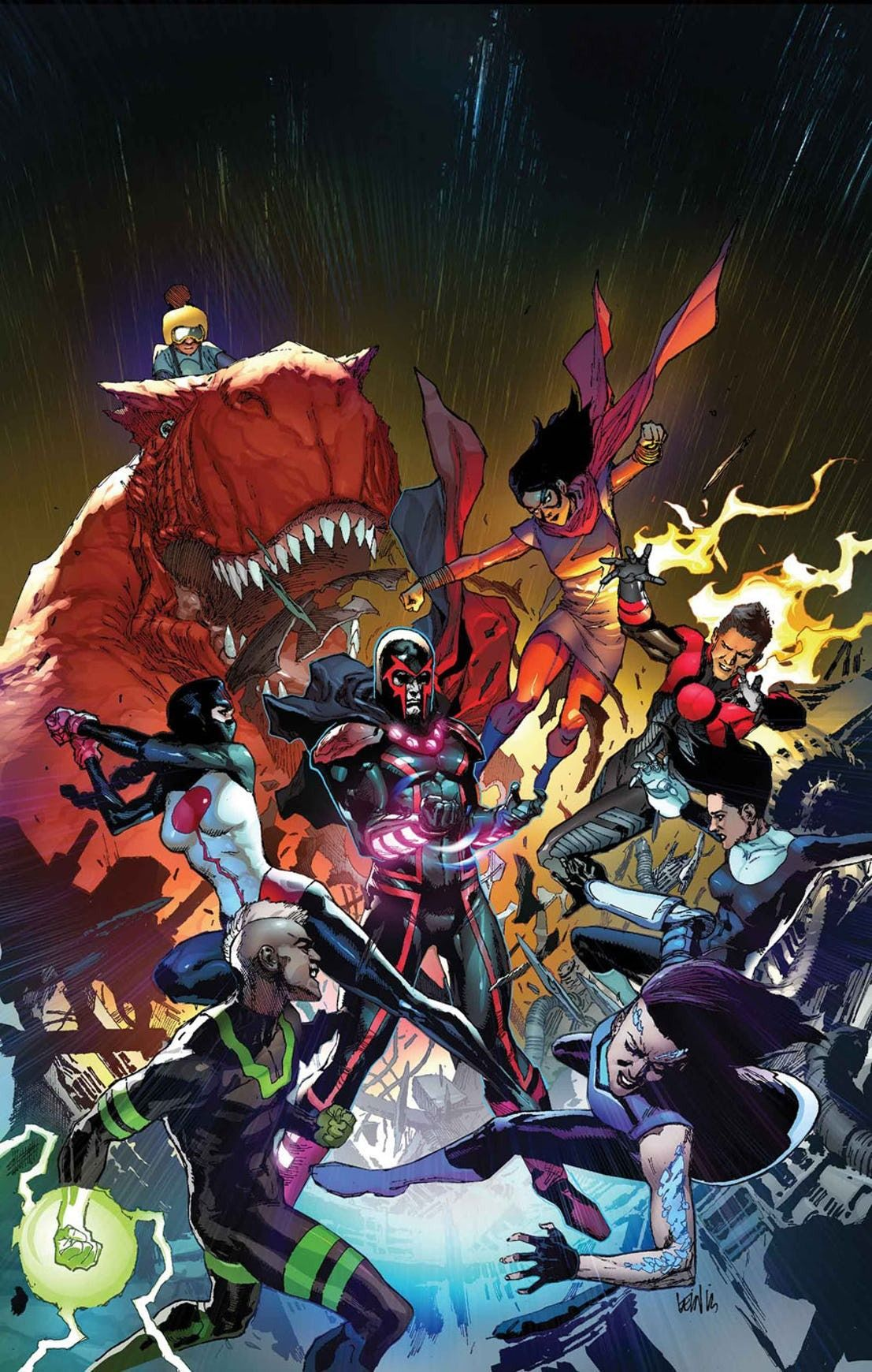 Inhumans Vs X Men 3 By Leinil Yu Colours By Daniel Curiel Marvel Historietas Marvel Comics