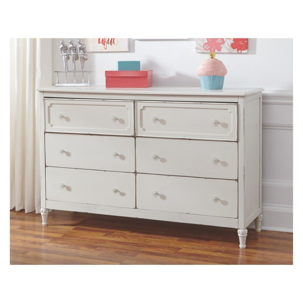 Faelene Dresser Chipped White Signature Design By Ashley