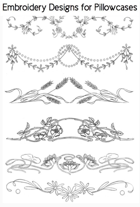 Free Patterns Embroidery Designs For Pillowcases Embroidery Ideas