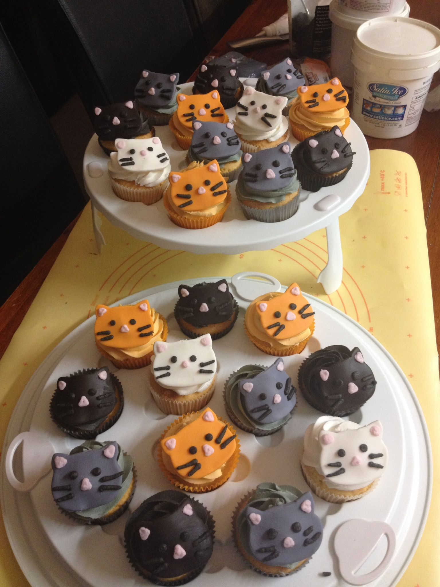 Kitty Cat Cupcakes For An Animal Charity Bake Sale