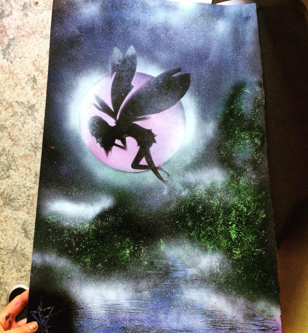 Fairy spray art for my mom's birthday.