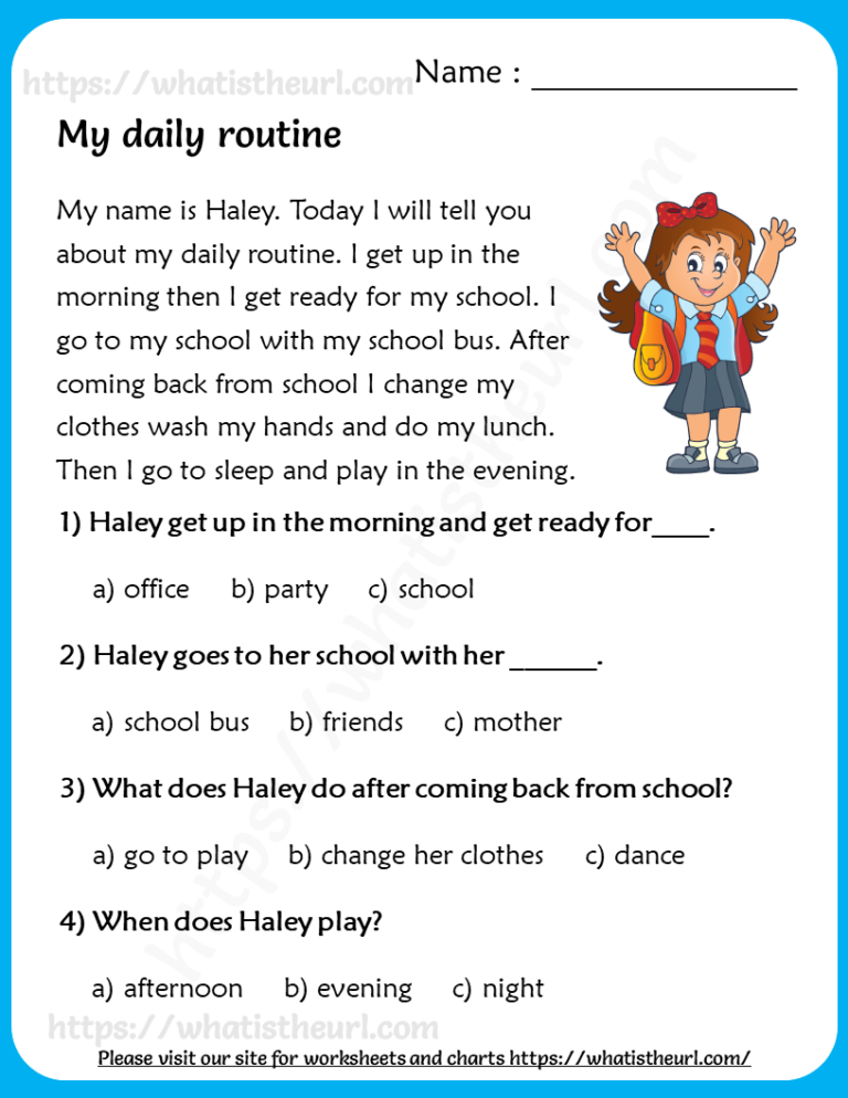 Reading Comprehension For Grade 3 Your Home Teacher Reading Comprehension Worksheets English Reading Reading Comprehension Passages