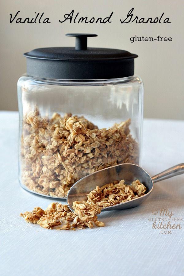 Vanilla Almond Granola {gluten-free} #vanilla #almond #granola #glutenfree #breakfast #recipe