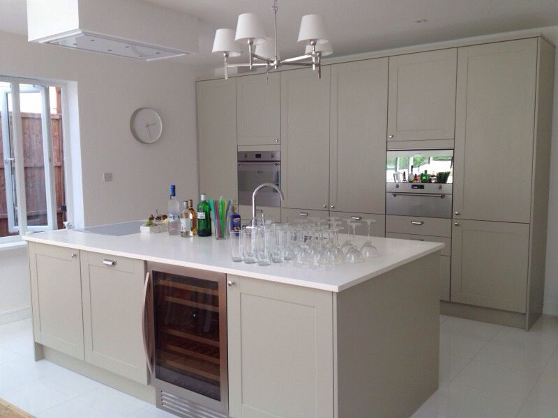 green kitchen worktops finally new kitchen green grey pistachio kitchen 1456