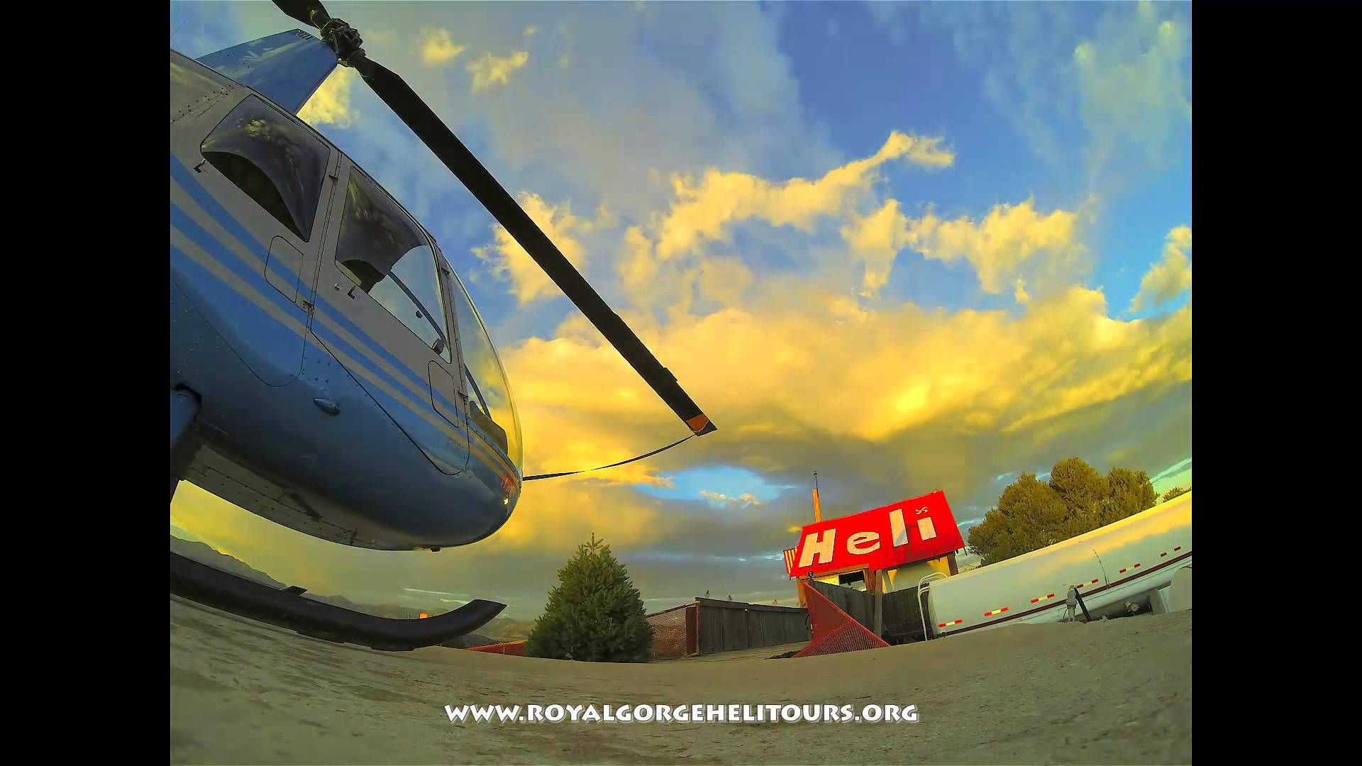 Colorado Sunrise at the Royal Gorge Heliport.  www.coloradovertical.com