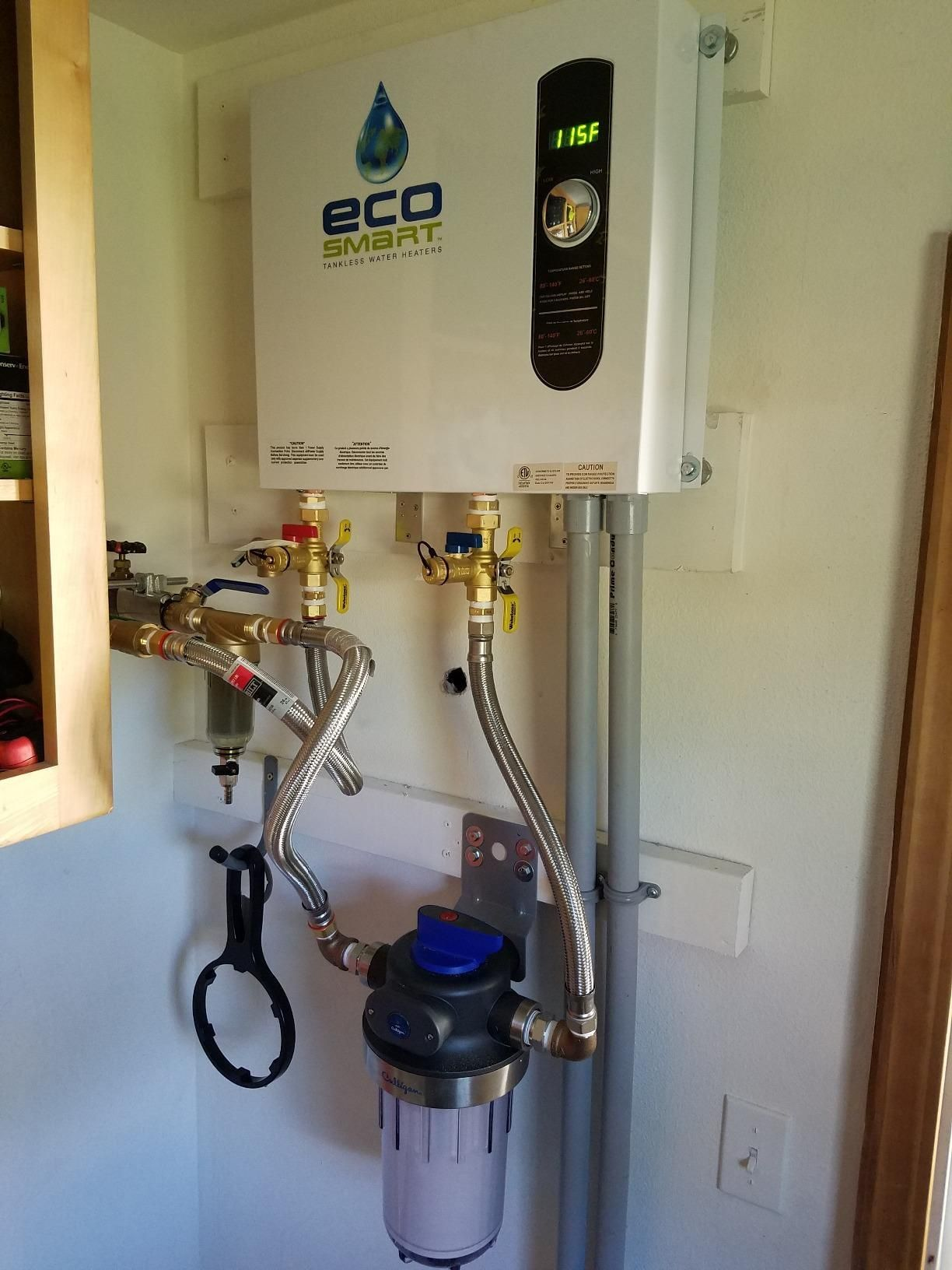 medium resolution of save money ecosmart tankless water heaters only turn on when you need hot water plus they cut down on heat loss saving you up to 50 in water heating