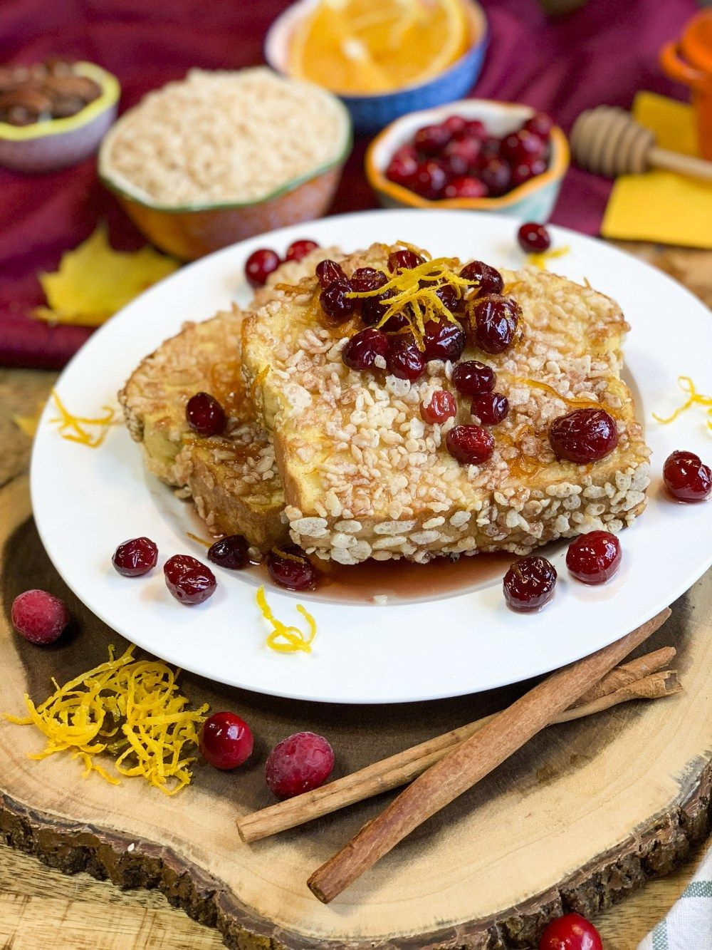 0bcca8d6246 Rice Krispie Coated French Toast with Cranberry Orange Maple Syrup  brunch   thanksgiving  thanksgivingrecipe  christmasrecipes  breakfastrecipes   breakfast ...