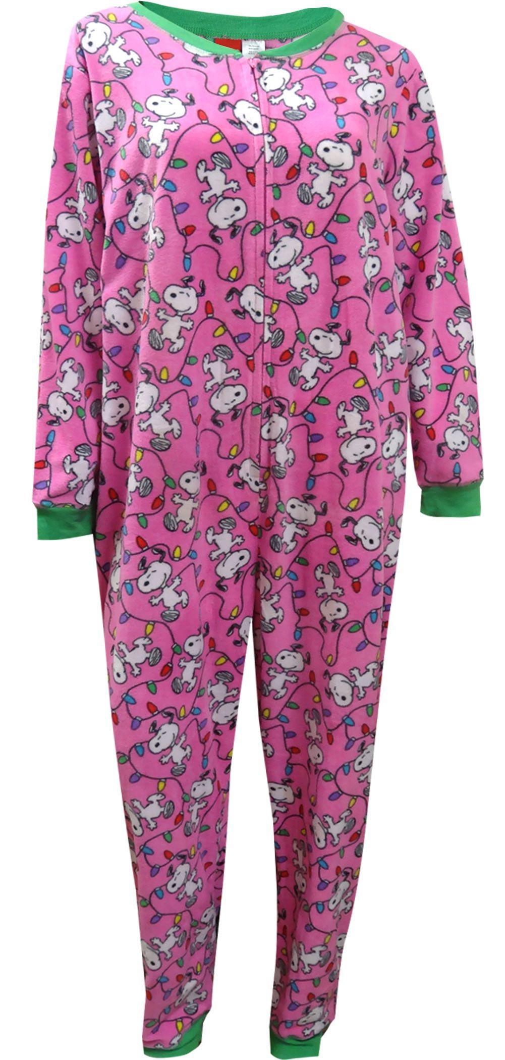 Peanuts Snoopy Christmas Plus Size Onesie Pajama Pajamas