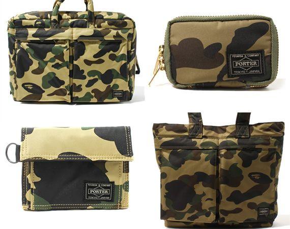 ef9130fa28 Porter x A Bathing Ape – 1st Camo Bag + Accessories Collection  camo