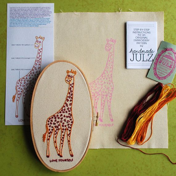 Love yourself giraffe diy embroidery kit by handmadejulz on etsy love yourself giraffe diy embroidery kit by handmadejulz on etsy 2000 solutioingenieria Images