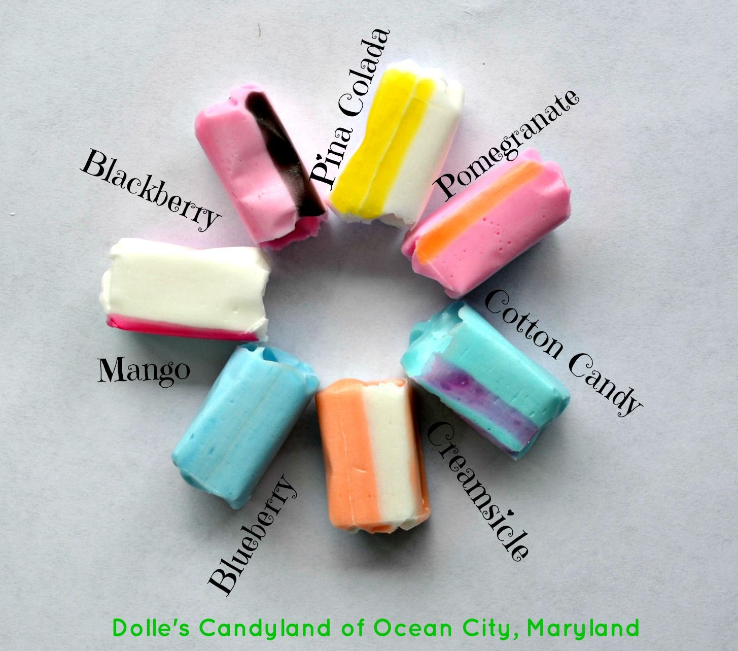 New Salt Water Taffy flavors at Dolle\'s Candyland! www.dolles.com ...