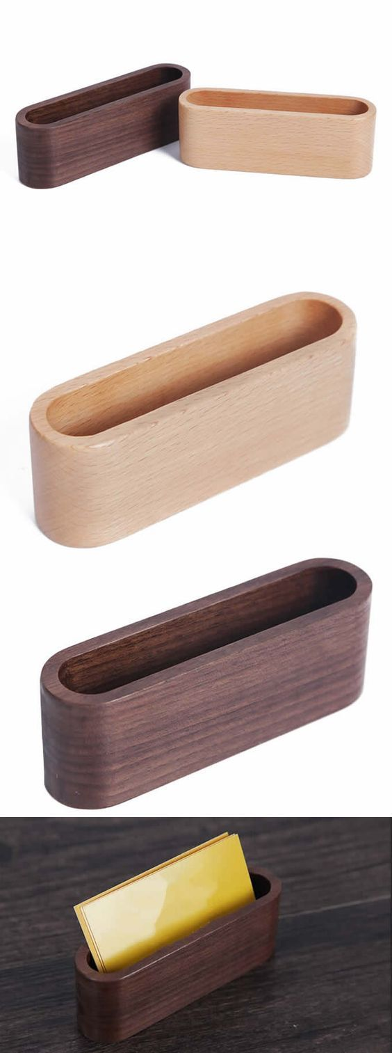 Wood business card holder cool office supplies pinterest wood business card holder my woodworking shed magicingreecefo Image collections