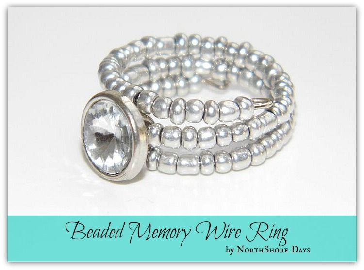 Beaded Memory Wire Ring Tutorial - so pretty. | DIY Ideas ...