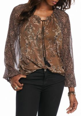 b121db3286300 Free People Hendrix Print Blouse