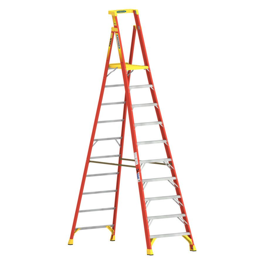 Werner Pd6200 13 Ft Fiberglass Type 1a 300 Lbs Capacity Platform Step Ladder Pd6210 In 2020 Ladder Platform Ladder Amazing Bathrooms