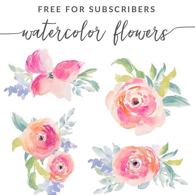 Free Little Watercolor Flower Clip Art Is Up On Angiemakes Com