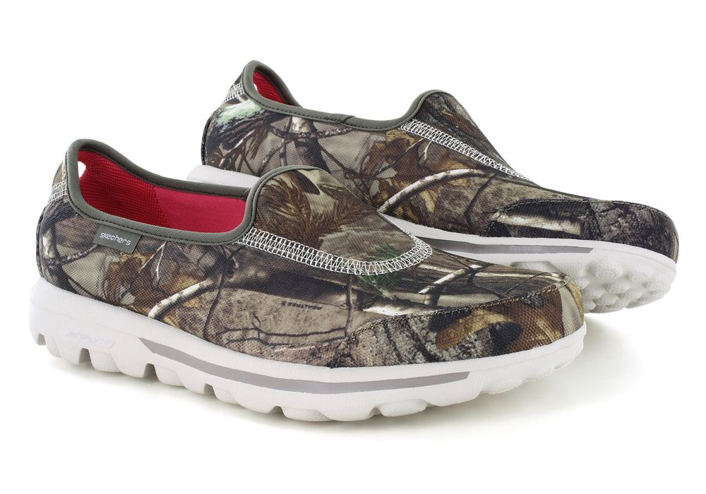 4c23aa6a877c Womens Skechers GO Walk Timber Slip On Realtree Camouflage
