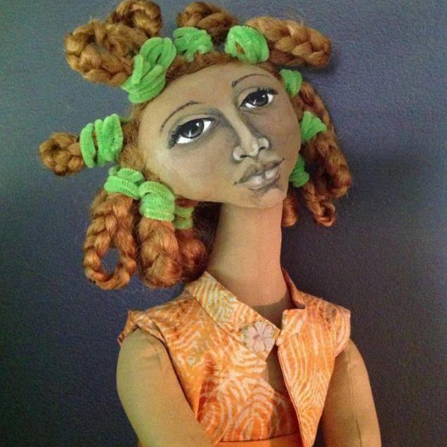 11 Deborah Grayson Studios, African American art doll, painted face
