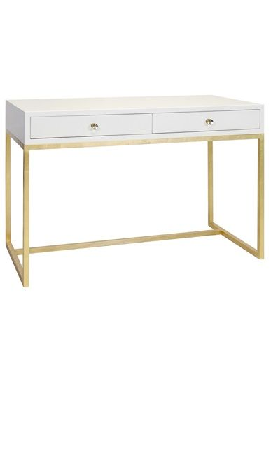 Writing Desks White Lacquer Gold Leaf Writing Desk Dressing