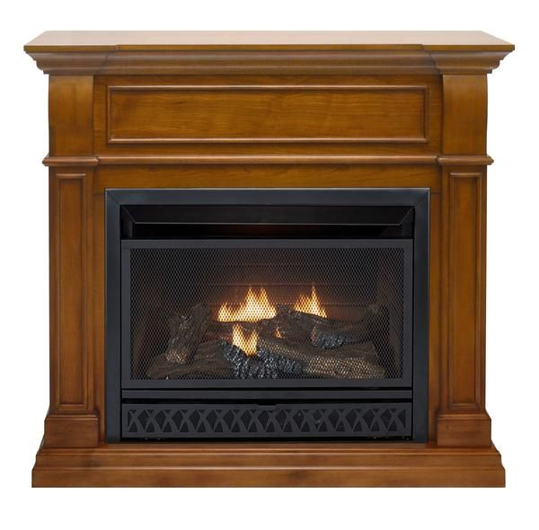 ProCom Dual Fuel Vent Free 26,000 BTU Fireplace - Apple Spice Finish, Model# FBNSD28T-J-AS