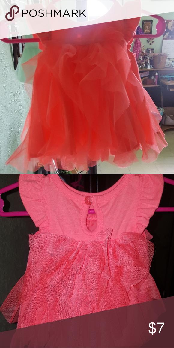 Newborn Dress Very Pretty Coral Ruffled Dress Like New Cat And