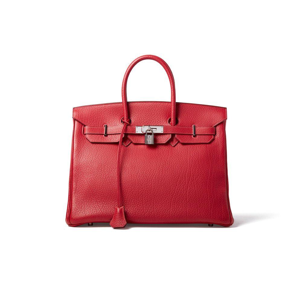 a46d0491fa Hermès Red Fjord Birkin 35cm Bag in 2019 | Travel stuff | Bags ...
