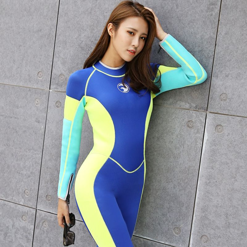 9a56205ae0e8 Hot Slae New Style Neoprene Wetsuit Women 2MM Surfing Wetsuits One Piece  Swimming Snorkeling Diving Wet Suit Long Sleeve 2017