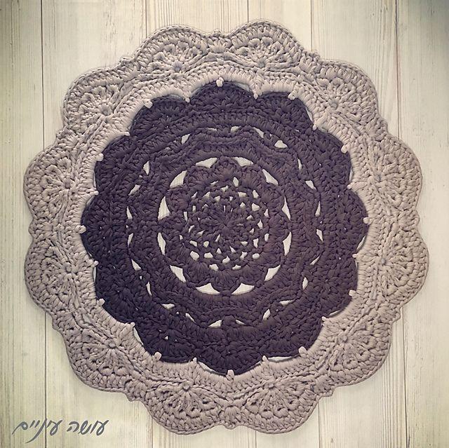 Snorka doily rug pattern by Liat Bentov | Trapillo, Ganchillo y ...