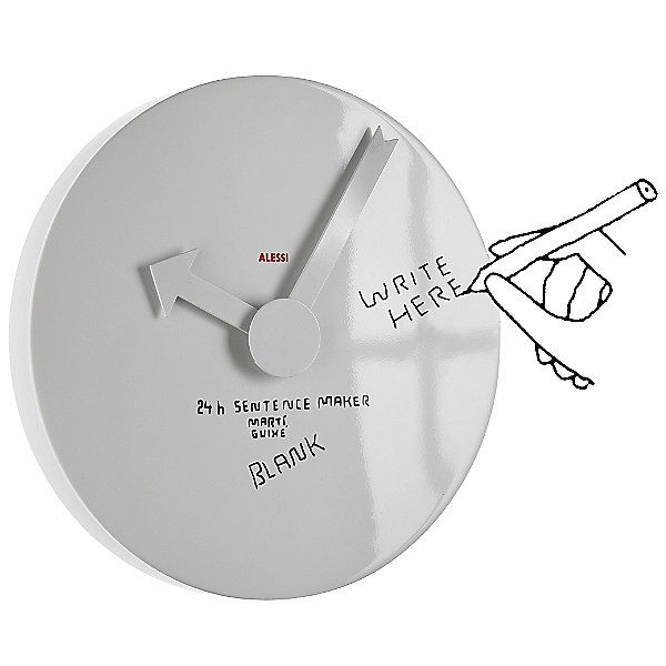 Alessi Blank Wall Clock By Marti Guixe Wall Clock Modern Clock Contemporary Wall Clock