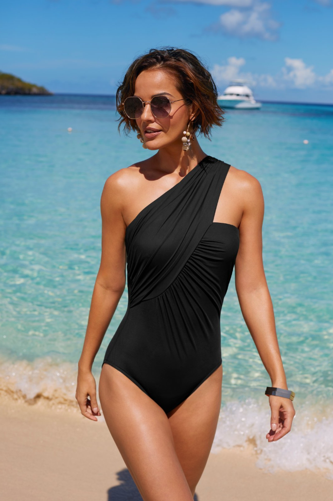 77a6dd03faf6 GODDESS CROSSOVER ONE PIECE SWIMSUIT | Beyond Proper by Boston Proper