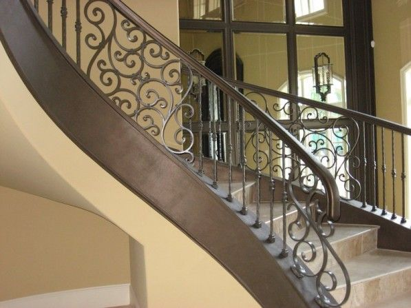 Metal Staircase Spindles | Classy Stair Balusters For Classic Style Stairs  Design: Wrought Iron .