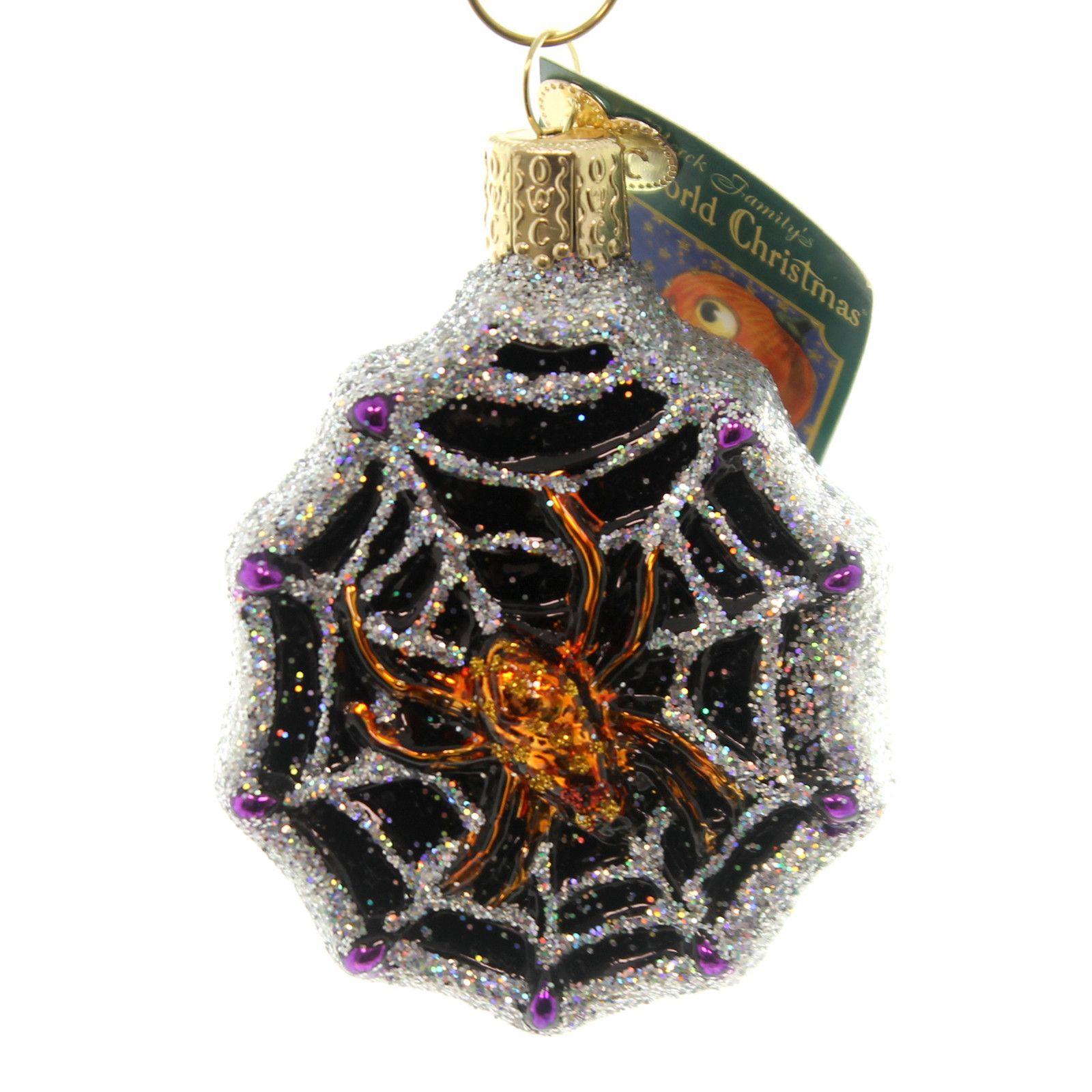 Old World Christmas Spider Web Halloween Glass Ornament ...