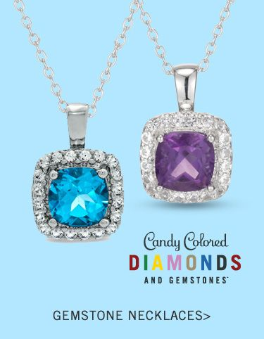 Candy Colored Diamonds and Gemstones - Shop Gemstone Necklaces >