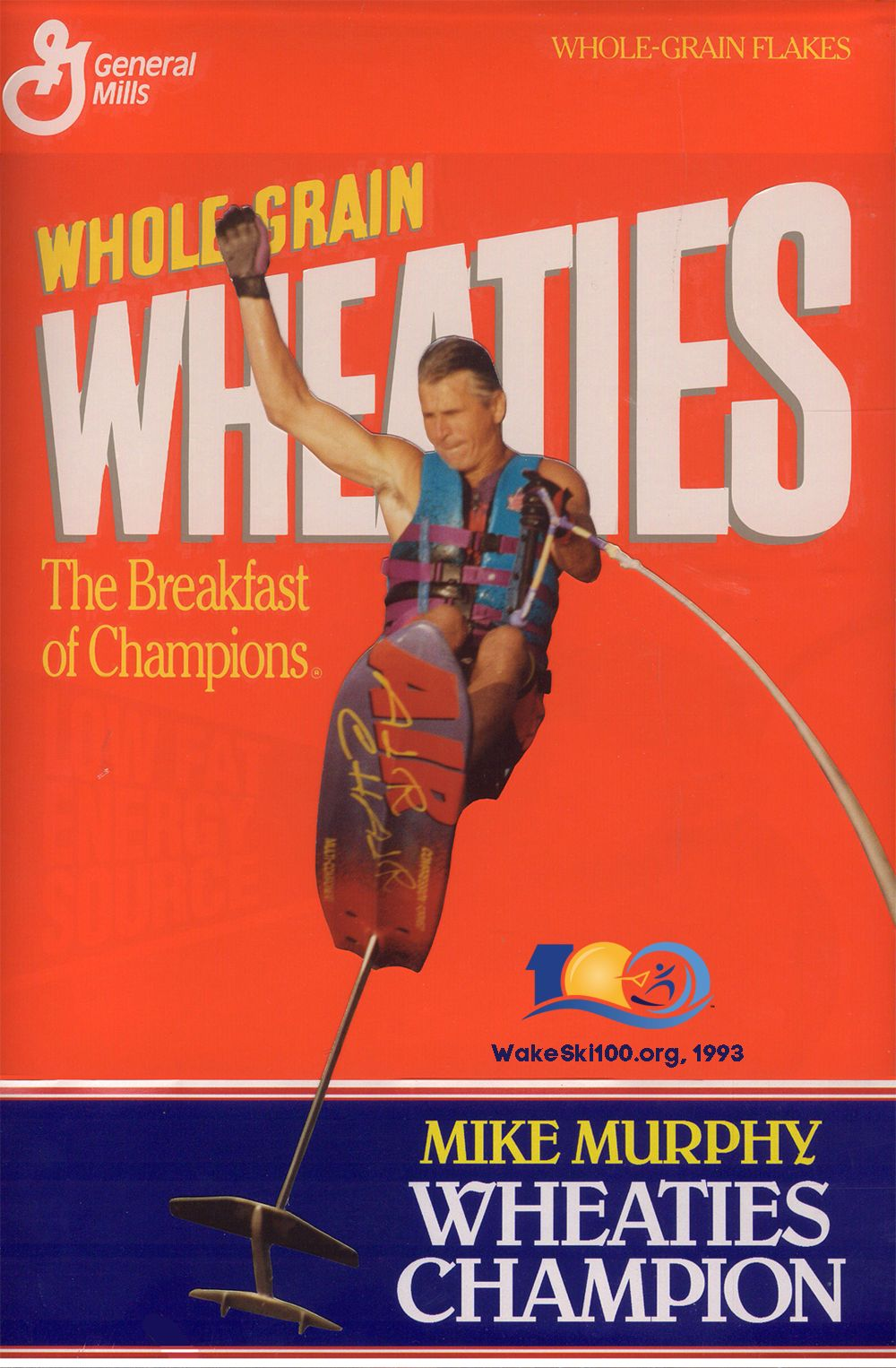 Mike Murphy received a personalized Wheaties box from