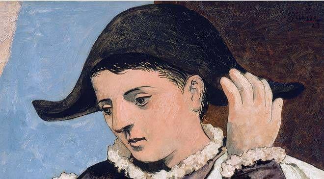 Pablo Ruiz Picasso. «Arlequin con espejo». Museo Thyssen-Bornemisza. Madrid © Sucesión Pablo Picasso / De las reproducciones autorizadas, VEGAP, 2011