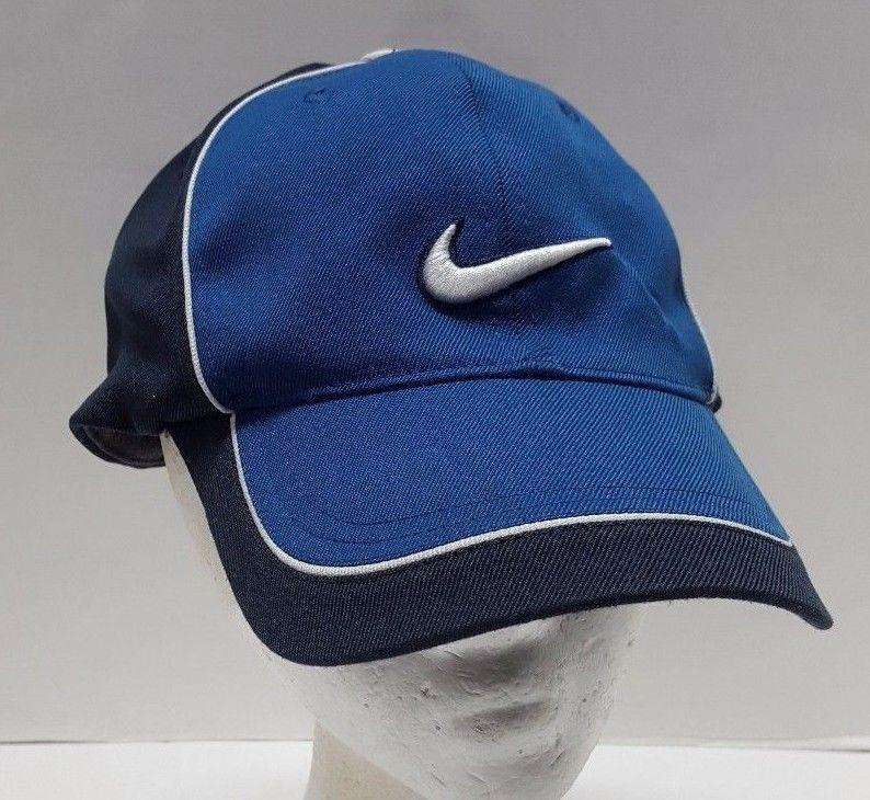01603b4b393 Nike Golf Blue Golf Hat Cap Swoosh Logo Fitted Stretch Fit Two Tone Unisex   Nike  BaseballCap