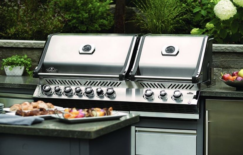 The Napoleon Prestige 500 With Infrared Side And Rear Burners Is The Total Grilling Package A Cart Mode Outdoor Kitchen Design Basic Kitchen Outdoor Kitchen