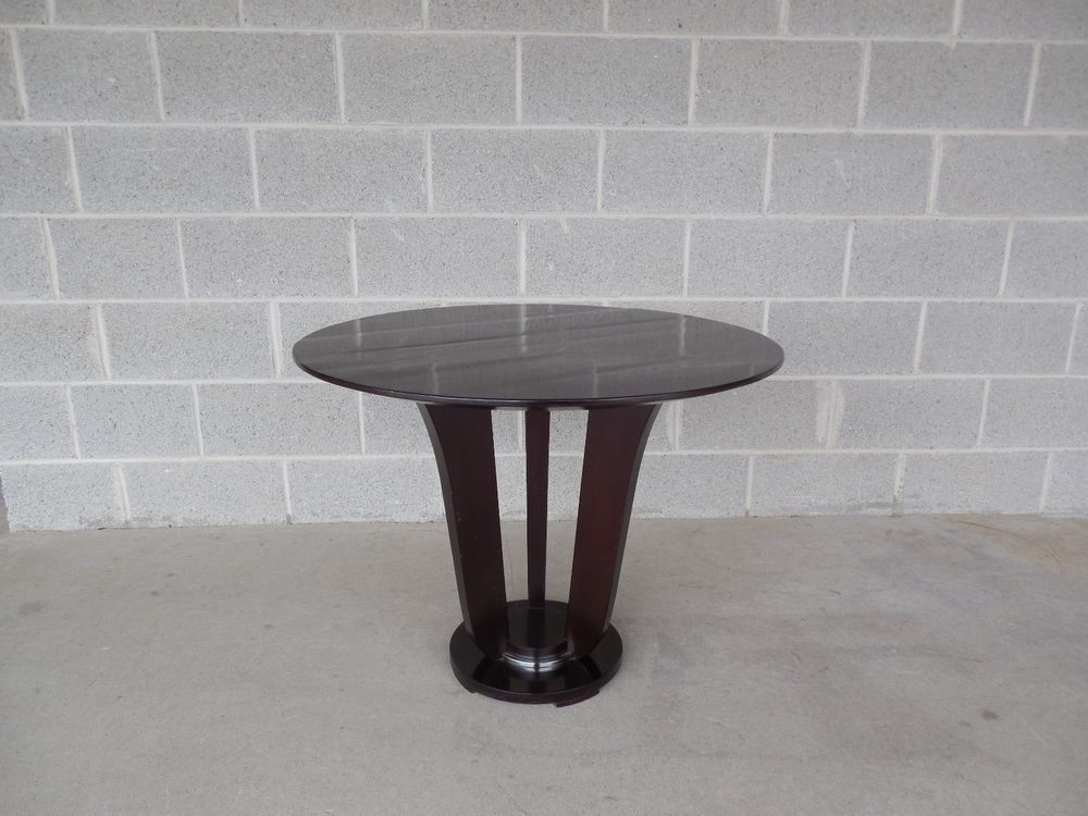 Barbara Barry For Baker Furniture Mahogany Art Deco Style Side Table #3457  #ArtDeco #