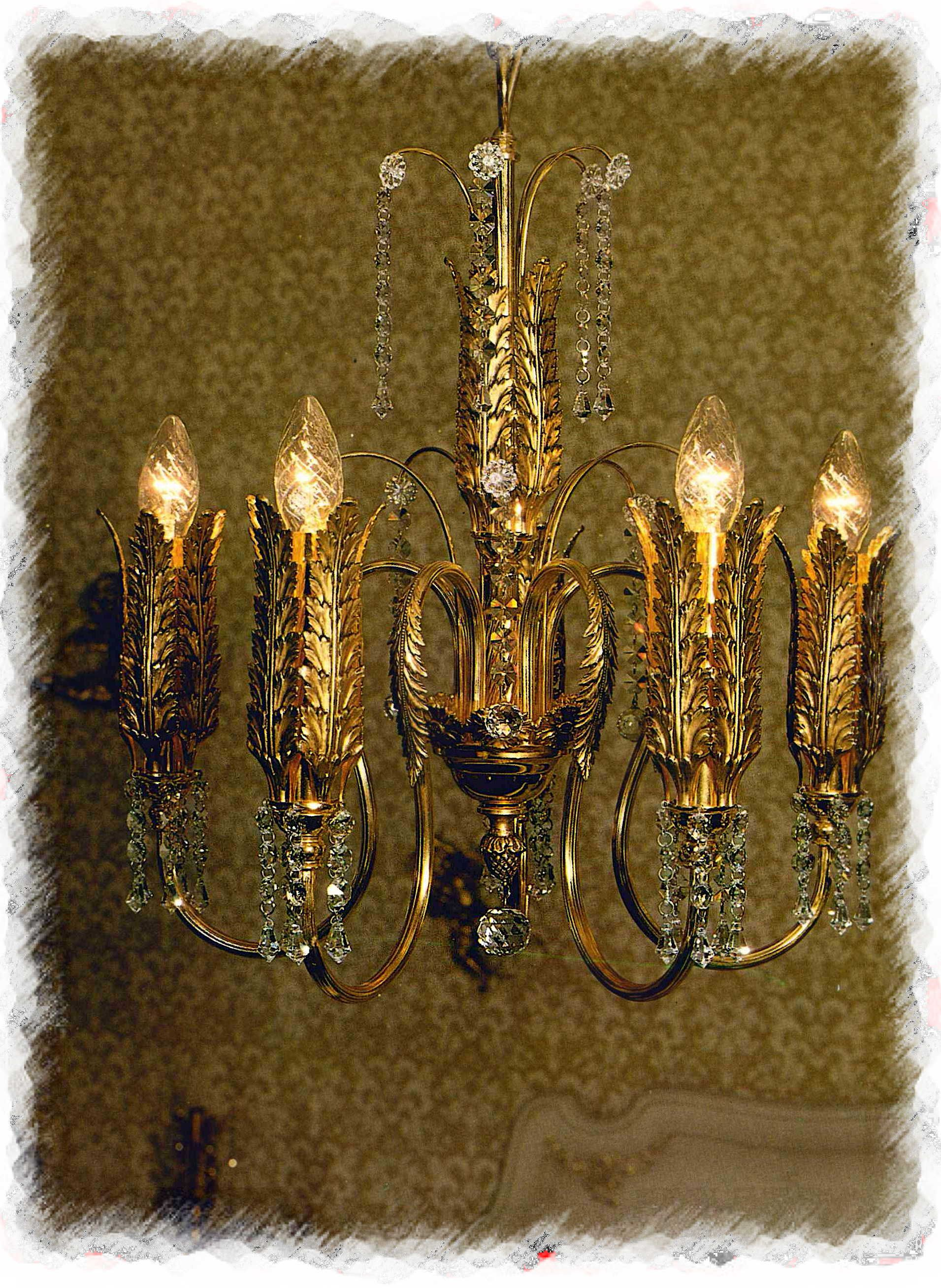 image style chandelier antique old french appraisal vintage empire crystal fashioned