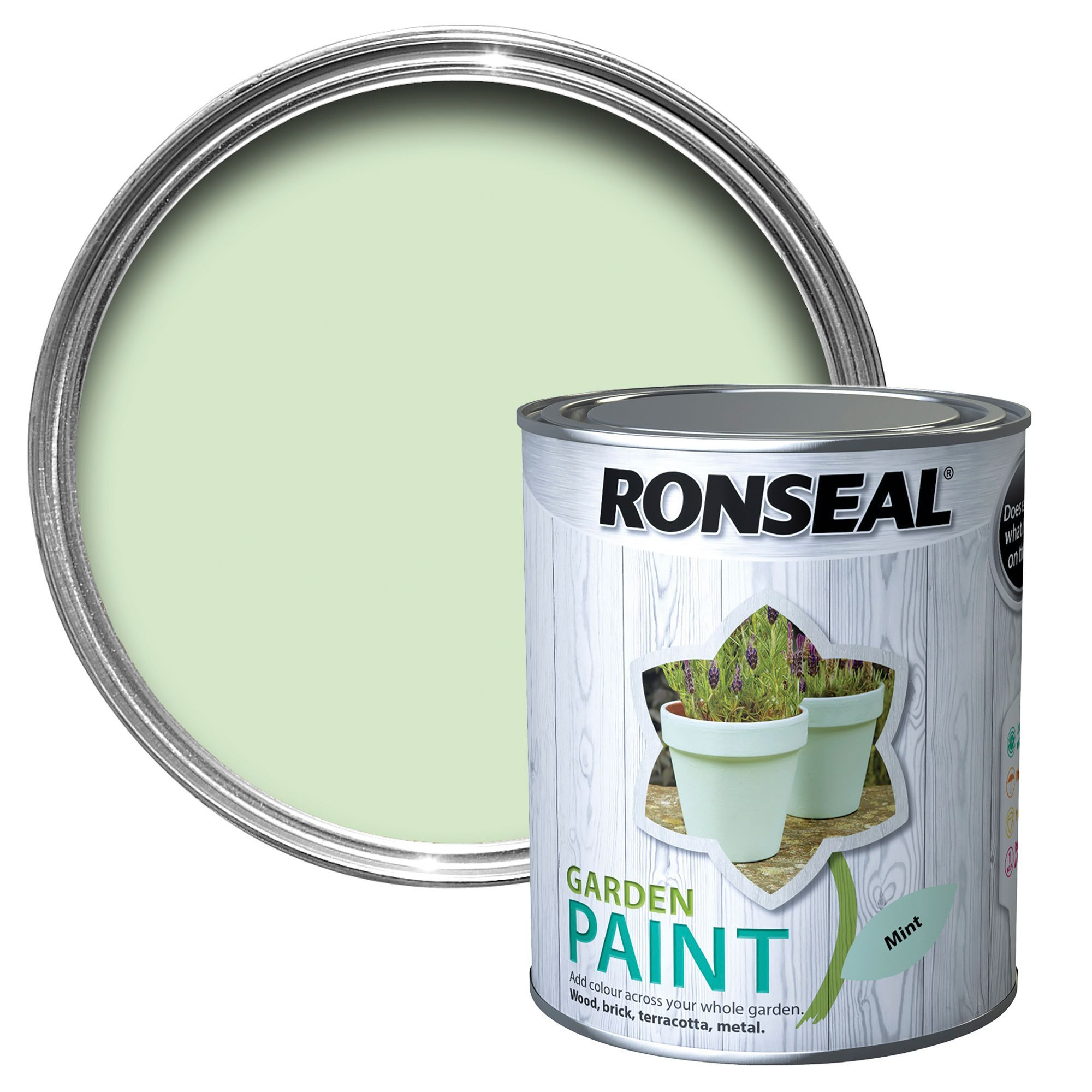 Ronseal Garden Mint Paint 750ml B&Q for all your home