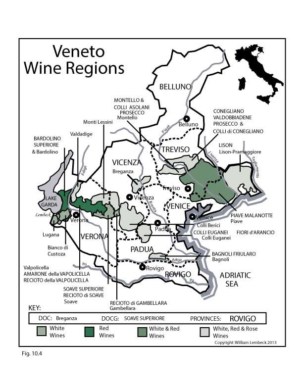 Veneto Italy SWE Map 2017 Wine Wine education and Wine food