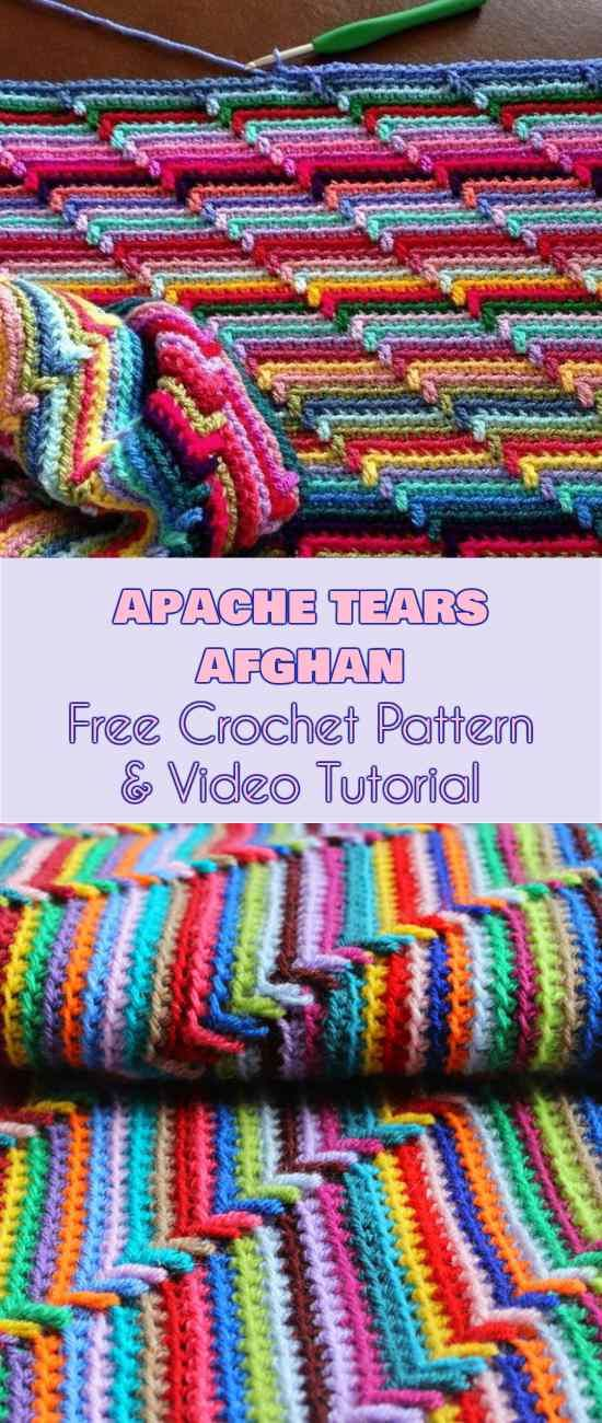 Apache Tears Afghan [Free Crochet Pattern and Video Tutorial] Follow ...