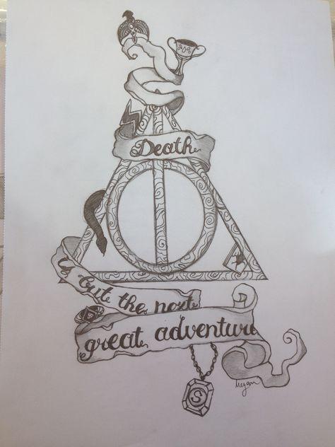 Pin De Aaima Areeba En Harry Potter Dibujos De Harry Potter Dibujos En Cuadricula Tatuaje Escudo